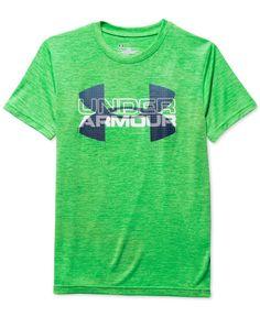 Under Armour Baby Boys Short Sleeve Big Logo Tee Shirt and Short Set Shirt Ether Blue 24M