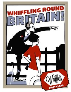 Smokeandsong.tumblr.com made this wonderful illustration (inspired by a 1920s British Transport advert) of Death Bredon's groundbreaking Whifflet's Cigarettes advertising campaign (Pimm's Ltd.)  From Murder Must Advertise, the Lord Peter Wimsey series by Dorothy L. Sayers.