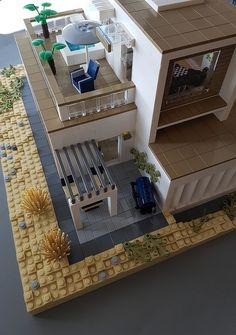 Whitebrick Sand House MOC shadow exterior | by betweenbrickwalls