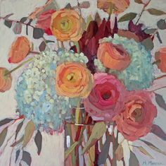 Fast and Furious Florals in Acrylic