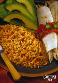 A delicious Traditional Spanish Rice recipe made with Carolina White Rice, chopped celery, green bell peppers, and minced garlic.