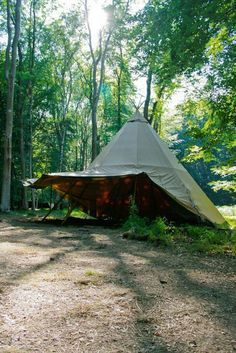 This Is A Canvas Wall Tent With A Wood Stove For Heat And