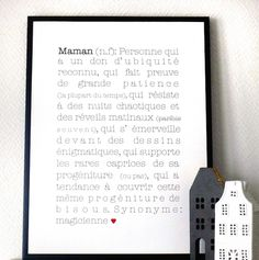 """Affiche """"Maman"""" - Babayaga Magazine http://www.babayaga-magazine.com/boutique/maman/"""