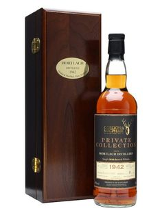 Mortlach 1942 / 50 Year Old / G Private Collection :  An incredible old whisky from the archives of Gordon & Macphail. Distilled on New Year's Eve in 1942 and bottled in January of 1993, this has spent over 50 years maturing in a sherry cask.