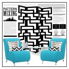 """""""Geometric Patterns"""" by crblackflag ❤ liked on Polyvore featuring interior, interiors, interior design, home, home decor, interior decorating, Universal Lighting and Decor, Arche, Lenox and Kelly Wearstler"""