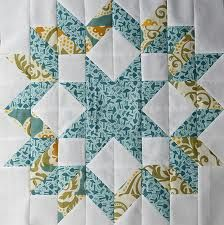 Carpenter's Star Quilt Block from http://pitterputterstitch.blogspot.com
