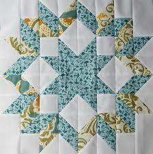 Carpenter's Star Quilt Block from http://pitterputterstitch.blogspot.com