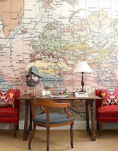 duvar kağıdı harita