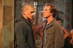 Still of William Fichtner and Wentworth Miller in Prison Break
