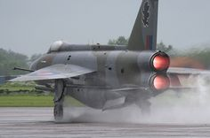 F6 Lightning with it's distinctive over under Engines in afterburner for take…