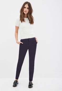 Navy Trousers | Forever 21