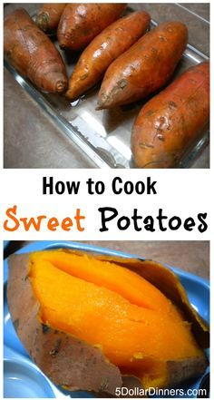 How to Cook Sweet Potatoes | 5DollarDinners.com - don't add the butter and it becomes a Superfree Food!