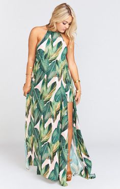 Bronte Maxi Dress ~ Peachy Palm