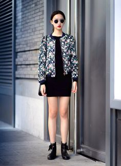 Flower Print Silk Jacket