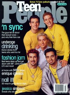 Two obsessions of my early teen years: NSYNC & Teen People magazine.