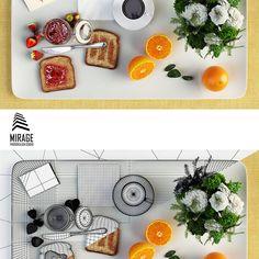 love my job. breakfast - 3D art.  see more at: www.studio-mirage.co.il Computer Art, Photorealism, 3d Max, Love My Job, Studio, Breakfast, Instagram Posts, Studios, Morning Breakfast