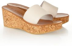 27b733ce509 Love this  K JACQUES ST TROPEZ Kirielle Leather and Cork Wedge Slides  Lyst  Cork