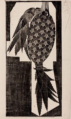 E.H. Ariëns kappers | SAMUEL JESSURUN DE MESQUITA Bird Illustration, Illustrations, School Architecture, European Style, Printmaking, Fruit, Abstract, Flowers, Prints