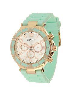 Ernest Horloge Rose Goud - Mint is een prachtig rose gouden horloge met een mint…