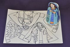 fun, FREE, printable manger scene for you and your children to color ...