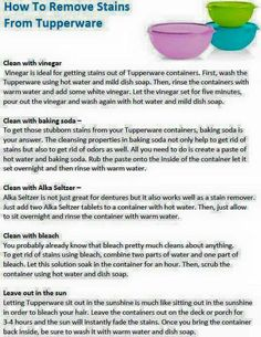 How to Remove Stains from Tupperware