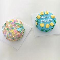 인기 많은 물감 케이크랑 내가 젤좋아하는 튤립케이크 #자매상회