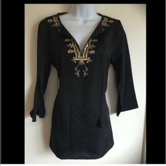 Brand new black boho top. Firm unless bundled.  Unknown Tops Blouses