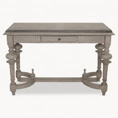 WOODCROFT STONE TOP CONSOLE TABLE RRP £995 A really delicious console table with a beautiful grey stone top and lightly distressed grey legs. Just enough detailing to make this piece stand out - but without stealing all the limelight in your living room or hallway. It just needs; a striking mirror above it, a couple of lamps and a gorgeous flower arrangement in the centre. W120cm H78cm D55cm