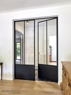 Industrial Farmhouse Design For Your Home Improvement - Lilly is Love Steel Windows, Steel Doors, Windows And Doors, Glass Design, Door Design, Design Design, Industrial Style Kitchen, Wrought Iron Doors, White Home Decor
