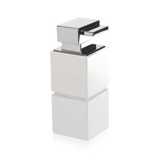 In an off white, this Cube soap dispenser from Moeve will add contemporary chic to your bathroom. Made from polyresin with a high gloss finish, this dispenser has a stainless steel hand pump. With ...