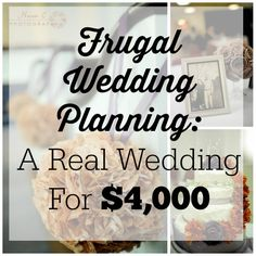 Who said you can't plan a frugal wedding?  Here's a real story of a frugal wedding for less than $4,000.