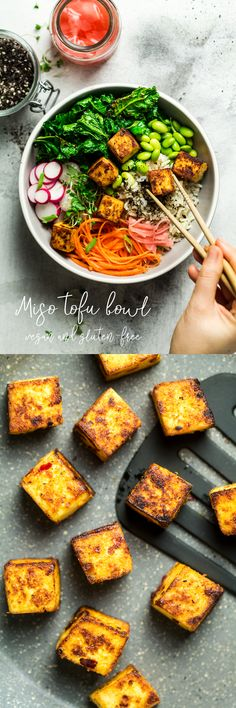 #miso #tofu #healthy #entree #lunch #salad #bowl #dinner #vegan #dairyfree #vegetarian #glutenfree #japanese #asian