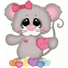Силуэт Дизайн магазина - Просмотр Дизайн # 73771: мышь ж Валентина конфеты сердца