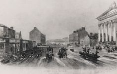Boole himself saw Cork flood several times; this engraving shows the floods in Washington Street over November 1853.