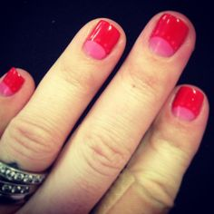 Shellac Valentines Day Nails