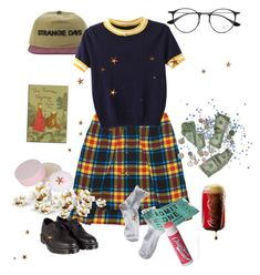 """""""I'm so broke"""" by paigealexandrialee on Polyvore featuring Christopher Kane, Ray-Ban, Dr. Martens, 1937, WithChic, Forever 21 and Chapstick"""