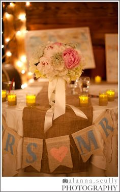Burlap (Cheap and rustic - both of which I love)