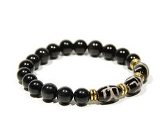 Black Agate and Yellow Tiger's Eye Beaded by BoutiquedAdele
