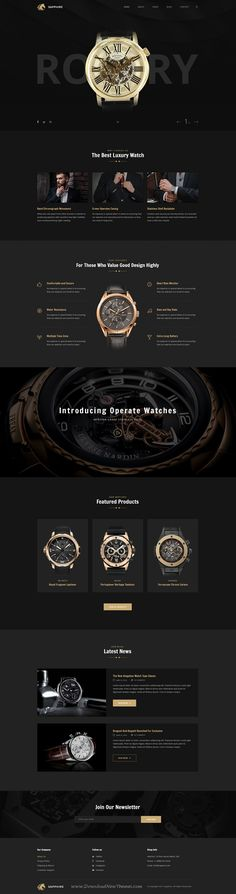 Sapphire is a wonderful #Photoshop template for #watches #store and luxury #products eCommerce website with 13 organized PSD pages download now➩ https://themeforest.net/item/sapphire-luxury-watch-retail-psd-template/19241275?ref=Datasata