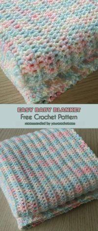 Easy Baby Blanket Free Pattern | Your Crochet #freecrochetpatterns #babyblanket #crochetpattern #crochetblanket
