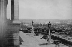 Nashville State from the steps of the state capitol during the Civil War