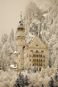 Neuschwanstein Castle, Bavaria. The Disney castle in Sleeping Beauty.