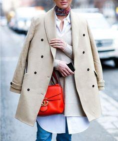 Trend inverno 2017: il rosso! Come abbinarlo in look da giorno!