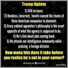 Wake up call for Trump supporters