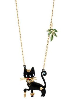 Cat Long Pendant Necklace by Betsey Johnson Jewelry & Watches on @HauteLook....love it.