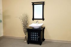 Bellaterra Home 30 inch Single Sink Vanity - Wood - Black 203012