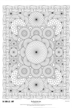 KALEIDOSCOPE doodle art colouring poster: This was uploaded by doodleartposters, FREE download @ photobucket.