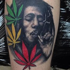 Sexy weed tattoos and cool marijuana related ink. Thinking of getting a cool 420 tattoo, then checkout our collection of top 420 tatts. Dope Tattoos, Great Tattoos, Body Art Tattoos, Hand Tattoos, Sleeve Tattoos, Tattoos For Guys, Rasta Tattoo, Weed Tattoo, Plant Tattoo