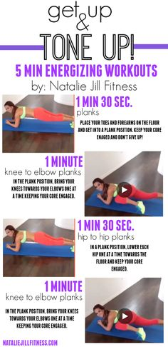 Let's plank it out! Plank focused workouts: strengthening our entire core and working on getting those abs!