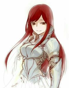 fairy tail, erza scarlet, and anime image Fairytail, Erza Y Jellal, Gruvia, Anime Fairy Tail, Fairy Tail Girls, Fairy Tail Genderbend, Manga Anime, Fanarts Anime, Anime Art